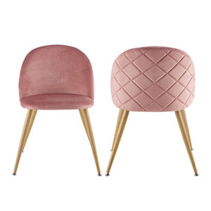 Lounge Leisure Soft Velvet Chairs with Wooden Style Metal Legs - Targen