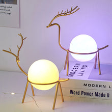 Load image into Gallery viewer, Nordic Deer Shape Frame Desktop Decorations With Cute Night Light - Targen