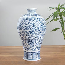 Load image into Gallery viewer, Porcelain Vases Interlocking Lotus Design Ceramic Vase - Targen