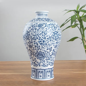 Porcelain Vases Interlocking Lotus Design Ceramic Vase - Targen