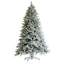 Load image into Gallery viewer, Snow Flocked Christmas Tree 7.5ft Artificial Hinged Pine Tree