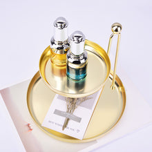Load image into Gallery viewer, Double-Layer Golden Storage Tray Cosmetic Jewelry  Container Plate - Targen