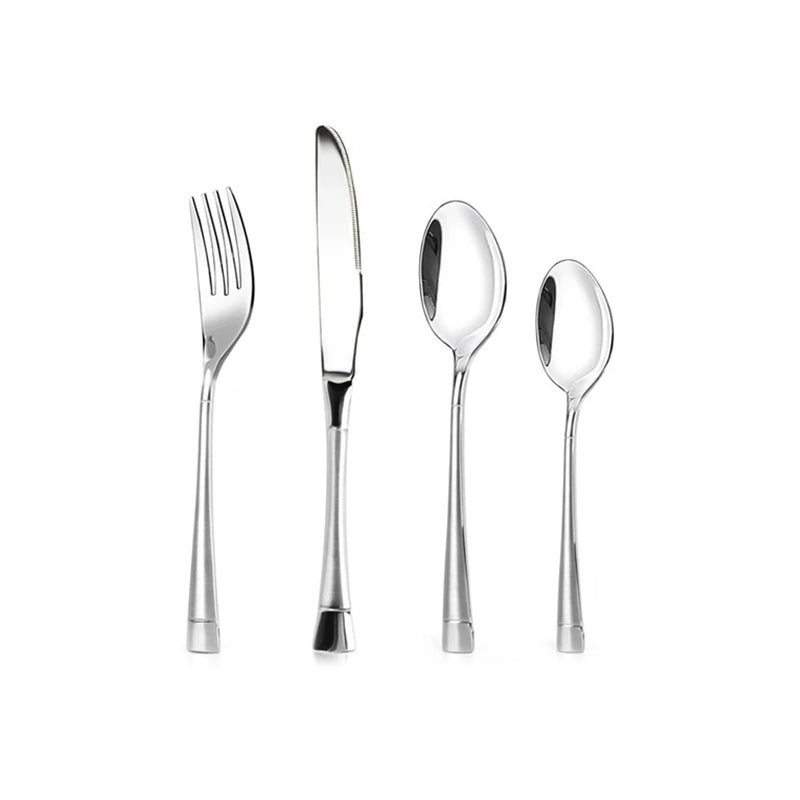 Cutlery Flatware Set Matte Handle Stainless Steel Knife Fork Spoon - Targen
