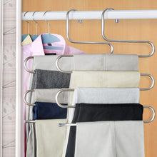 Load image into Gallery viewer, Coat Hangers 5-layer Stainless Tools Belt Coat Multilayer Storage Rack - Targen