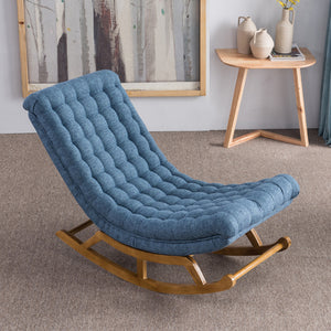 Nordic Simple Rocking Chair Lazy Couch Single Balcony Nap Easy Chair - Targen