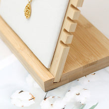 Load image into Gallery viewer, Wooden Plank Jewelry Display Stand Bamboo Necklace Organizer - Targen