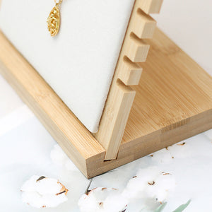 Wooden Plank Jewelry Display Stand Bamboo Necklace Organizer - Targen