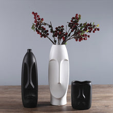 Load image into Gallery viewer, Minimalist Face Vase Abstract Ceramic Creative Flower vase - Targen