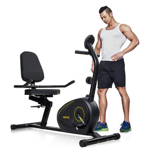 Magnetic Recumbent Exercise Bike Fitness Stationary Bicycle - Targen