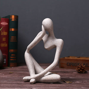 Thinker People Statues Creative Abstract Resin Sculptures - Targen