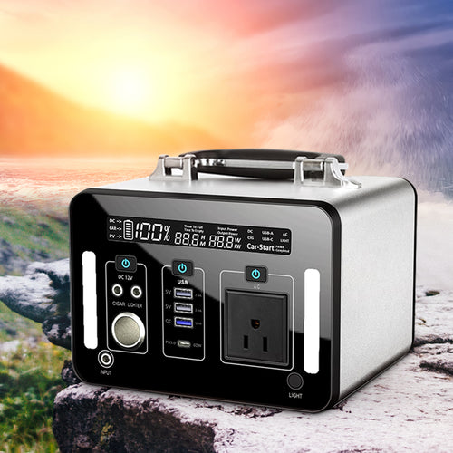 1000W lithium-ion Battery Portable Power Station with LED Flood Lights for Outdoor Camping