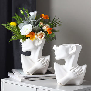 Targen Half-Length Face Ceramic Flower Pot