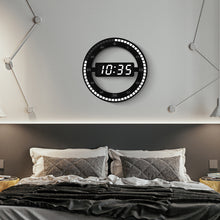 Load image into Gallery viewer, Circular LED Digital Wall Clock For Home Decoration - Targen
