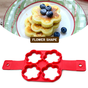 4 Holes Fried Egg Mold Nonstick Silicone Baking Rings Muffin Pancake Mould