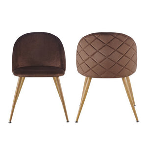 Chairs Lounge Leisure Soft Velvet Chairs with Wooden Style Metal Legs - Targen