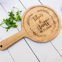 Load image into Gallery viewer, Cutting Board Housewarming Custom Engraved Bamboo Cutting Board with Handle - Targen