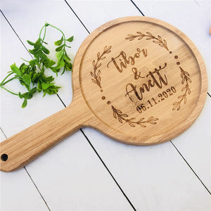Cutting Board Housewarming Custom Engraved Bamboo Cutting Board with Handle - Targen