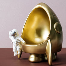 Load image into Gallery viewer, Creative Spaceman Sculpture Astronaut Storage Resin Rocket Statues - Targen