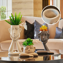 Load image into Gallery viewer, Creative Human Face Vase Statue Abstract Art Vase Home Crafts - Targen