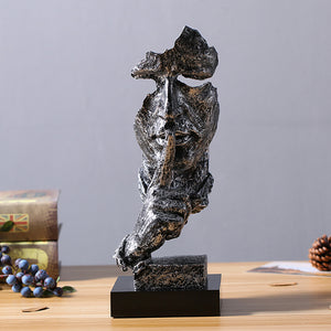 Creative Silence Figure Abstract Crafts Retro Desktop Sculpture - Targen
