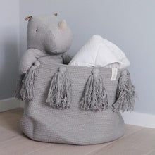 Load image into Gallery viewer, Cotton Rope Woven Tassel Storage Basket Room Debris Storage Container - Targen