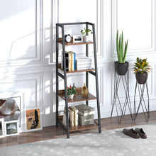 Load image into Gallery viewer, Four Layers Bookcase Plant Flower Stand Rack Storage Shelves for Home Décor
