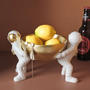 Astronaut Ornaments Creative Fruit Dried Fruit Storage Plate - Targen