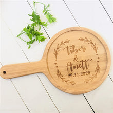 Load image into Gallery viewer, Housewarming Custom Engraved Bamboo Cutting Board with Handle - Targen