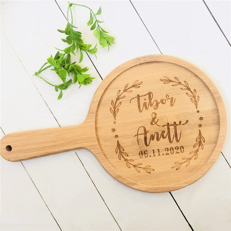 Housewarming Custom Engraved Bamboo Cutting Board with Handle - Targen