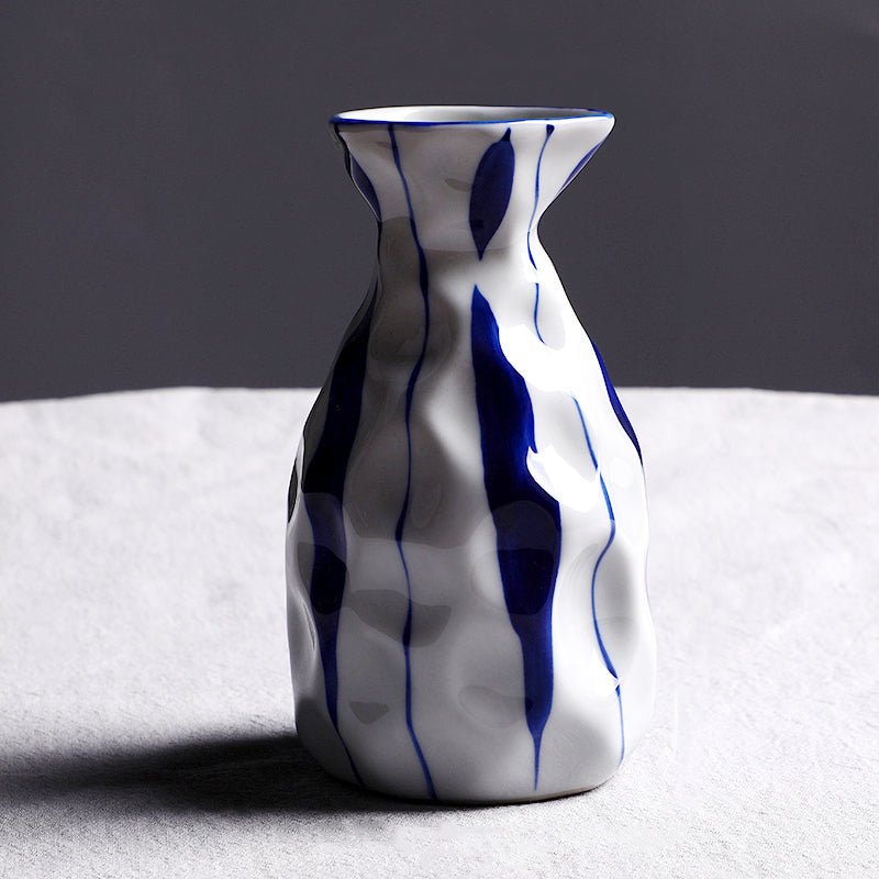 Vintage Ceramic Blue and White Vase