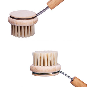 Pan Brush With Long Wooden Handle Oil Non-stick Cleaning Tools - Targen
