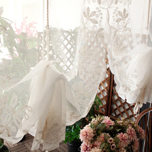 Lace Curtain European Iris Tectorum Wave Voile - Targen