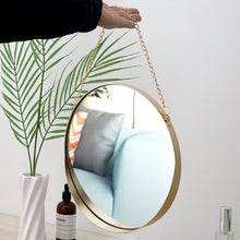 Load image into Gallery viewer, Decorative Mirrors Nordic Metal Round Wall Mount Mirror - Targen