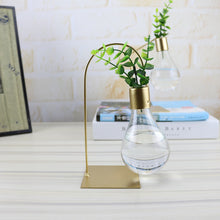 Load image into Gallery viewer, Vintage Bulb Vases with Gold Metal Tray
