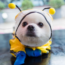 Load image into Gallery viewer, Dog Raincoat Rain Boots Set Hooded and Four Leg Pet Raincoat