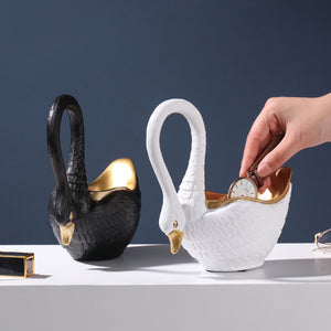 Creative Swan Storage European style Resin Crafts Decoration - Targen
