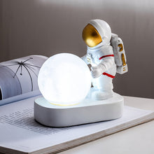 Load image into Gallery viewer, Spaceman Model Resin Material Illumination Moon Desk Lamp