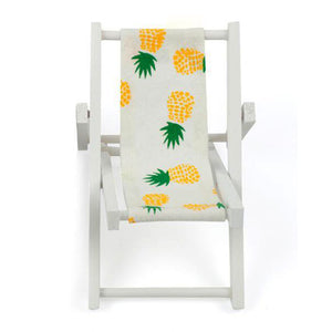 Mini Beach Chair Pattern Fold Wooden Chair Craft Decor - Targen