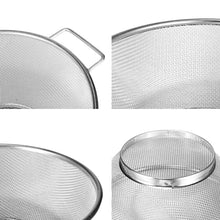 Load image into Gallery viewer, Strainer Bowl Drainer  Stainless Steel Fine Mesh Vegetable Sieve Colander Sifter - Targen