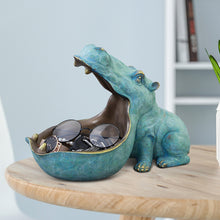 Load image into Gallery viewer, Targen 3D Hippo Statue Animal Storage Box - Targen