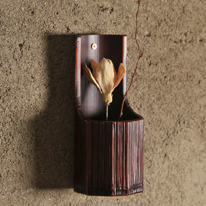 Flower Vases Stands For Room Wall Decor Bamboo Hanging Vase Vintage Container - Targen