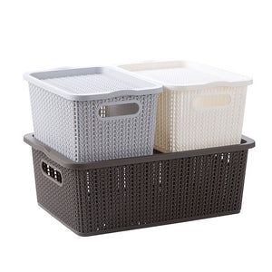 Clothes Underwear Basket Large Toy Storage Box With Plastic Cover - Targen