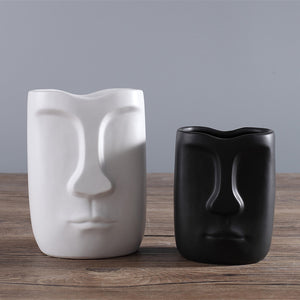 Minimalist Face Vase Abstract Ceramic Creative Flower vase - Targen