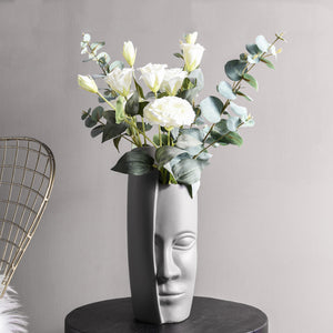 Modern Face Vase Flower Arrangement Ceramic Art Decoration - Targen