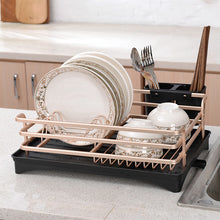 Load image into Gallery viewer, Aluminium Alloy Dish Rack Kitchen Organizer Storage Drainer Drying Plate - Targen