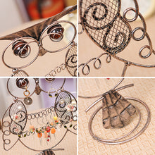 Load image into Gallery viewer, Antique Silver Owl Earring Holder Earrings Necklace Jewelry Rack - Targen