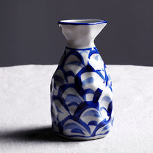 Load image into Gallery viewer, Vintage Ceramic Blue and White Vase