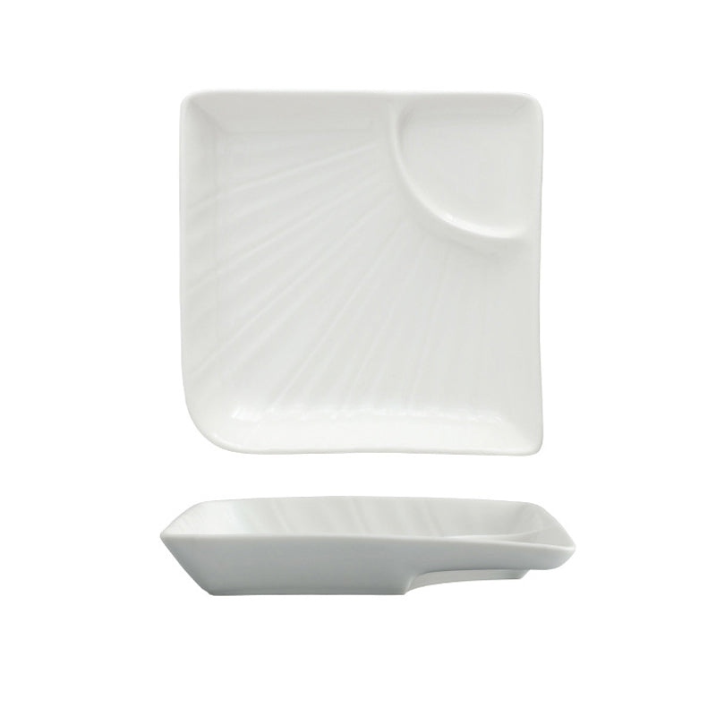 White Ceramic Dishes Microwave Oven Flat Dishes Tableware Dinner Plates - Targen