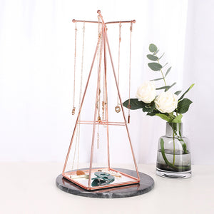 Creative Wrought Iron Jewelry Rack Windmill Earring Storage Display Rack - Targen
