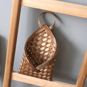 Woven Wall Hanging Mounted Basket Rustic Idyllic Flower Basket - Targen